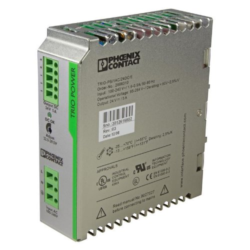 DIN Rail Power Supplies TRIO-PS/1AC/24DC/5 TRIO 24V 5A - Phoenix Rail Din Contact