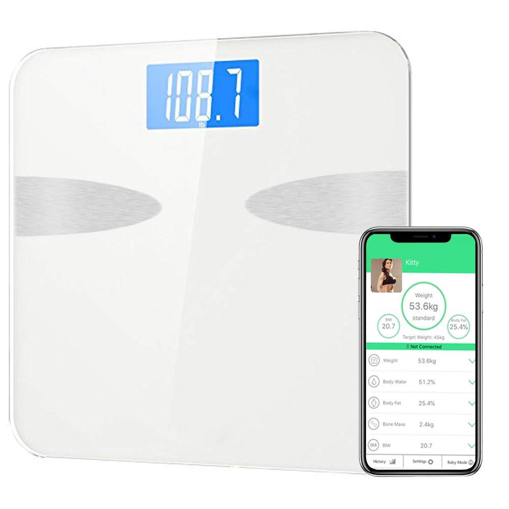 【サイズ交換OK】 IOSとAndroidアプリスマートデジタルバスルームスケール体重、体脂肪、体水分、骨量、筋肉量、BMI B079HRFD9K、BMR、内臓脂肪の健康アナライザーとANYOYOブルートゥース体脂肪スケール B079HRFD9K, ミカサカメラWeb:edc8961e --- svecha37.ru