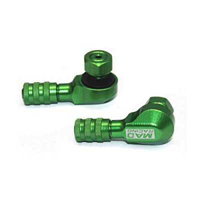 Aluminum Motorcycle Tire Valve Stem 90 Degree Angle Wheel Tire Stem Tubeless Valve (8mm, Green): Automotive
