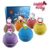 Organic Handmade Bath Bombs with HELLO KITTY TOYS INSIDE for Kids – Natural and Safe Bombs with Essential Oils – with Toys Inside – Great Gift Set for Boys and Girls – 6 x 5 OZ