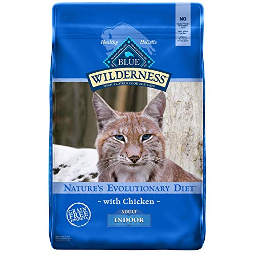 Blue Buffalo Wilderness High Protein Grain Free, Natural Adult Indoor Dry Cat Food, Chicken 11 Lb