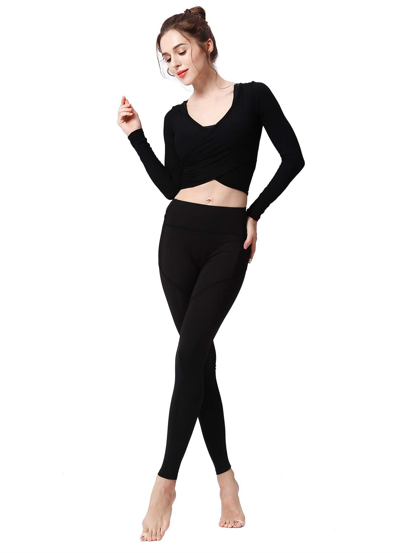 Black grey L.W.S Yoga Pants for Women  Buttery Soft 4 Way Stretch Workout Leggings Sport Legging