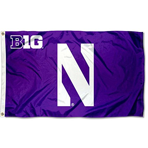 (College Flags and Banners Co. Northwestern Wildcats Big 10 Flag)