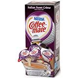 Coffee-mate 5000084652 Liquid Coffee Creamer, Italian Sweet Creme, 0.375 oz. Cups (Pack of 50)