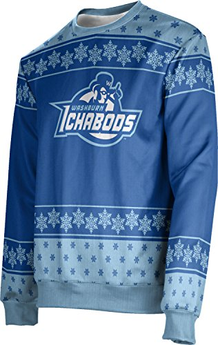 ProSphere Men's Washburn University Ugly Holiday Snowflake Sweater