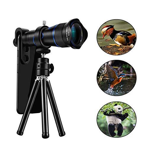 MAI&BAO Monocular Telescope Camera Lens 22x Flexible Camera Tripod Watch The Game, Concerts, Tourism, Observe Animal Lovers, News Reporter Long-Distance Shooting,Blue