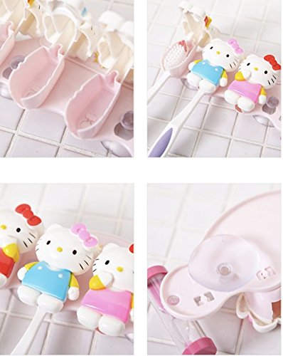 Hello Kitty Toothbrush Holder with 3 Minute Sand Time Clock