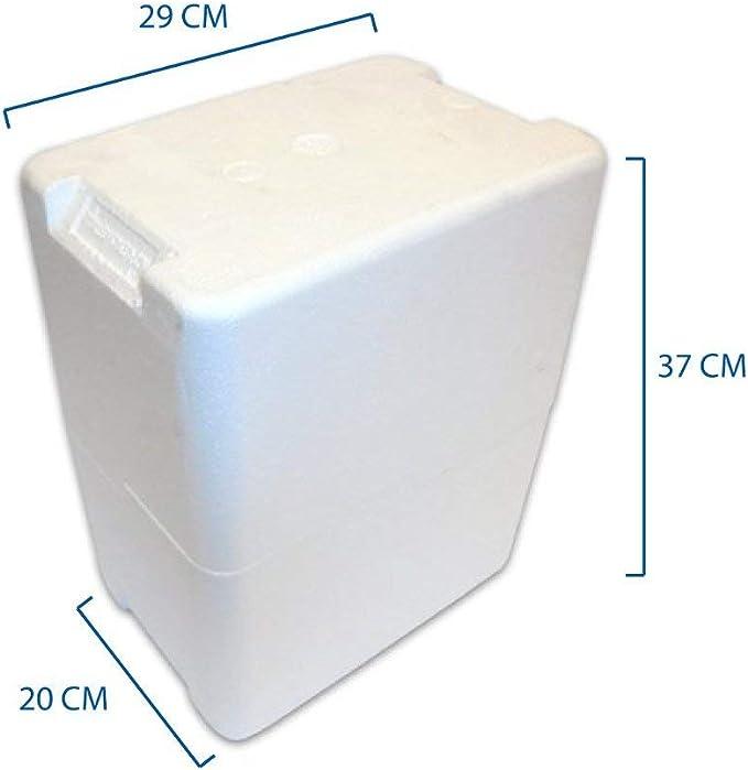 Caja porta botellas de poliestireno para 6 botellas de 0,50 y 0,75 ...