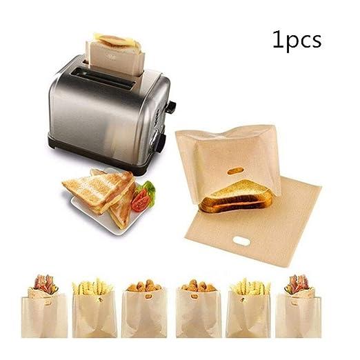 LanLan Bolsa de tostadora Reutilizable Antiadherente y ...