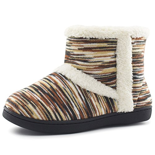 Women's Memory Foam Bootie Slippers Winter Warm Mukluks