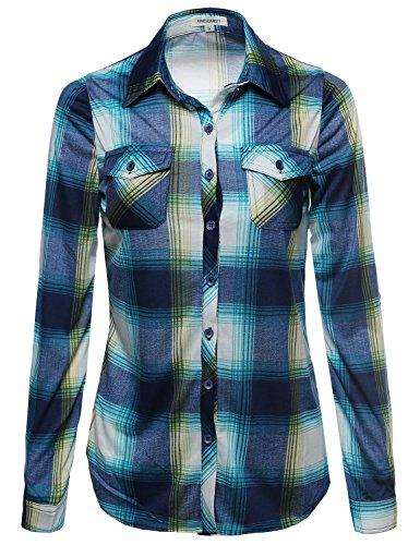 Blue Plaid L/s Shirt (Lightweight Collar Plaid Button Down Shirt Blue Size)