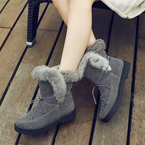 Calientes Planas Tobillo De Botas Mujer Para Zapatos Invierno Nieve Pingxiannv Mujeres OPTqty