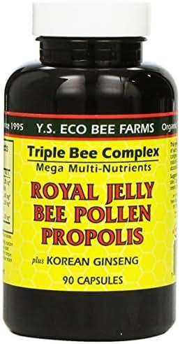 YS Organic Farms: Royal Jelly Bee Pollen Propolis w/Ginseng 90 ct