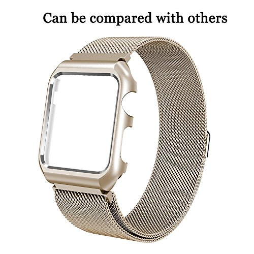 For Apple Watch Band 42mm/38mm Stainless Steel Mesh Magnetic Replacement Wrist Band With Metal Protective Case for Apple Watch Series 2 Series 1 Sport Nike+ Edition