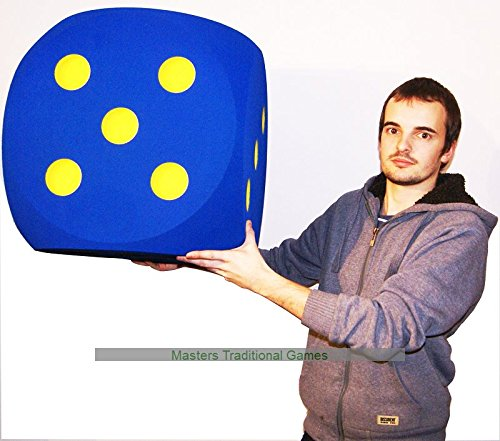 Giant Foam Dice - 50cm - BLUE by Masters Traditional Games
