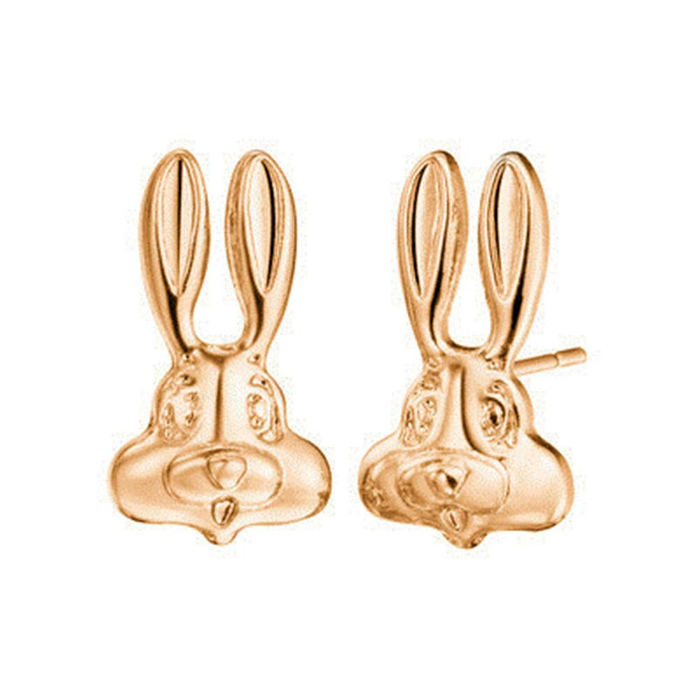 18K Gold Plated /& 925 Silver Plated Bunny Rabbit Piercing Stud Post Earrings Bugs