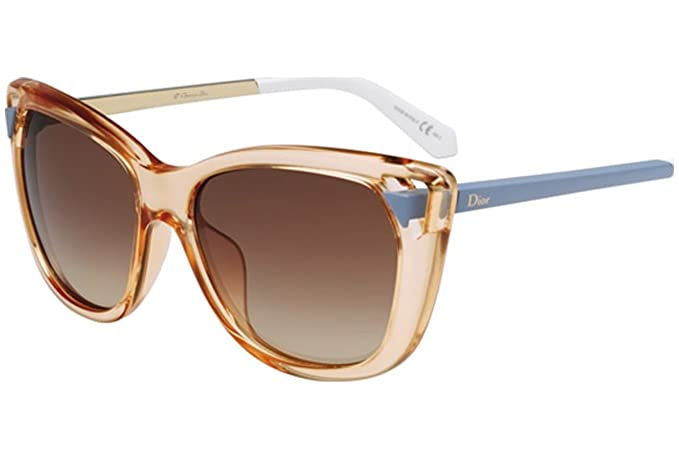 b9063066c3425 Christian Dior Chromatic 1 S Sunglasses Peach Matte Azure Brown Gradient