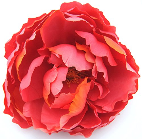 Coral Flowers Brooch - 4