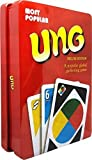 UNO Cards Deluxe Edition ,Tin Metal Box ,Red, 108 Cards