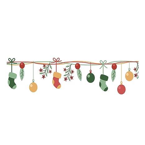 VRTUR- Pegatinas de Navidad para decoración de Ventanas, Calcetines de Navidad, Ventana,