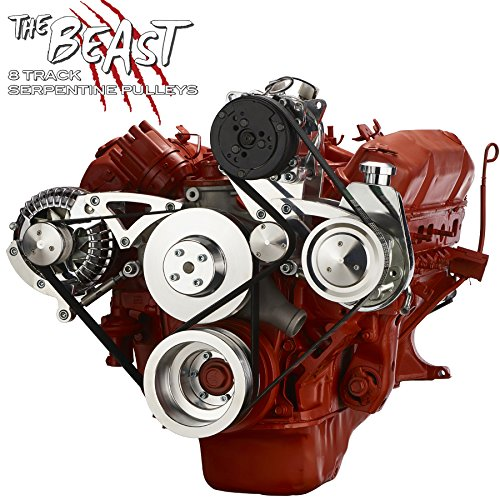 Chrysler Big Block Serpentine Kit - Alternator, Power Steering & A/C Applications
