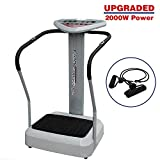 Clevr 2000w Full Body Vibration Massage Exercise Machine Platform Crazy Fit Fitness Harmonics, Grey