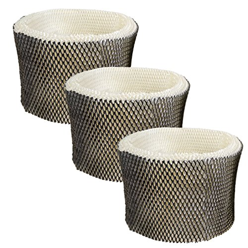 HQRP 3-Pack Wick Filter for Honeywell HEV680 HEV685 Series HEV-680B HEV680B HEV-680W HEV680W HEV685B HEV685W Humidifiers, HC-14 HC-14N Filter E Replacement Coaster