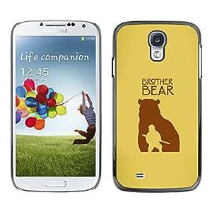Caucho caso de Shell duro de la cubierta de accesorios de protección BY RAYDREAMMM - Samsung Galaxy S4 - Hermano Oso