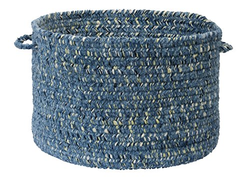 Colonial Mills West Bay Utility Basket, 14 by 10-Inch, Blue Tweed