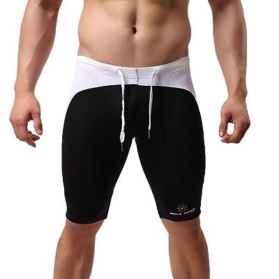 Clothestec Men's Low Waist Breathable Printing Men's Swim Shorts at Men's Clothing store