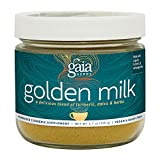 Gaia Herbs Golden Milk Powder - Organic Turmeric and Ashwagandha Blend, A Daily Wellness and Mindfulness Ritual, 30 Servings
