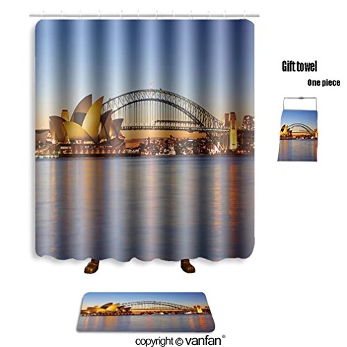 vanfan bath sets with Polyester rugs and shower curtain sydney september the sydney opera house viewe shower curtains sets bathroom 60 x 72 inches&23.6 x 15.7 inches(Free 1 towel and - Out Fashion Night Sydney