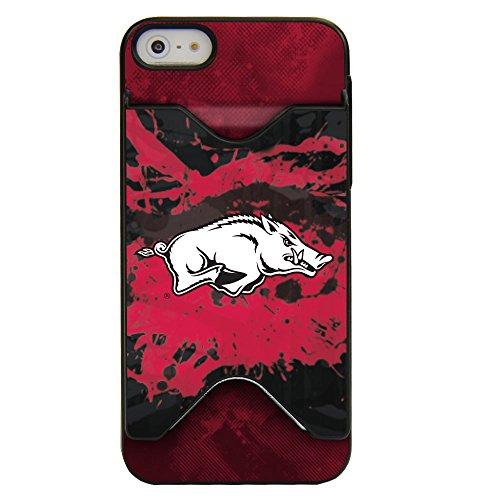 Card Credit Razorbacks Arkansas - Guard Dog Arkansas Razorbacks - Credit Card Case for iPhone 5 / 5s / SE - Black