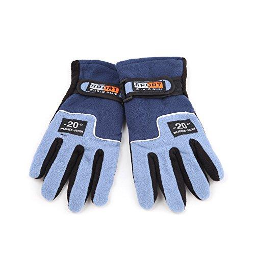 1 Pair Adjustable Windproof Women Skiing Gloves Outdoor Thermal Winter Cycling Hiking Snowboard Motorcycle - Dark - Oakleys Best Big For Heads