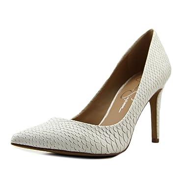 45cf0f38b1a8 Jessica Simpson Womens Levin White Size  10 B (M) US  Amazon.co.uk ...