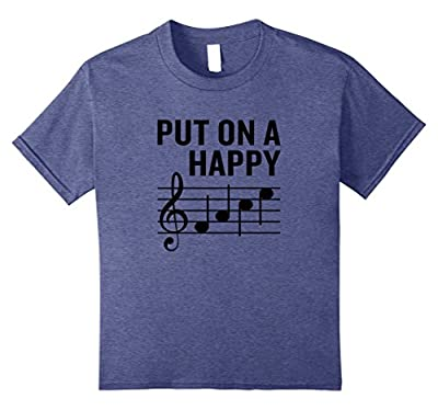 Put On a Happy Face T-Shirt Funny Music Note Joke