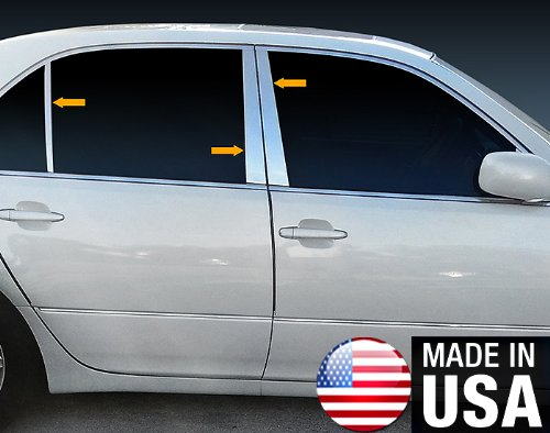 Made in USA! Works With 01-06 Lexus LS 430 6 PC Stainless Steel Chrome Pillar Post Trim
