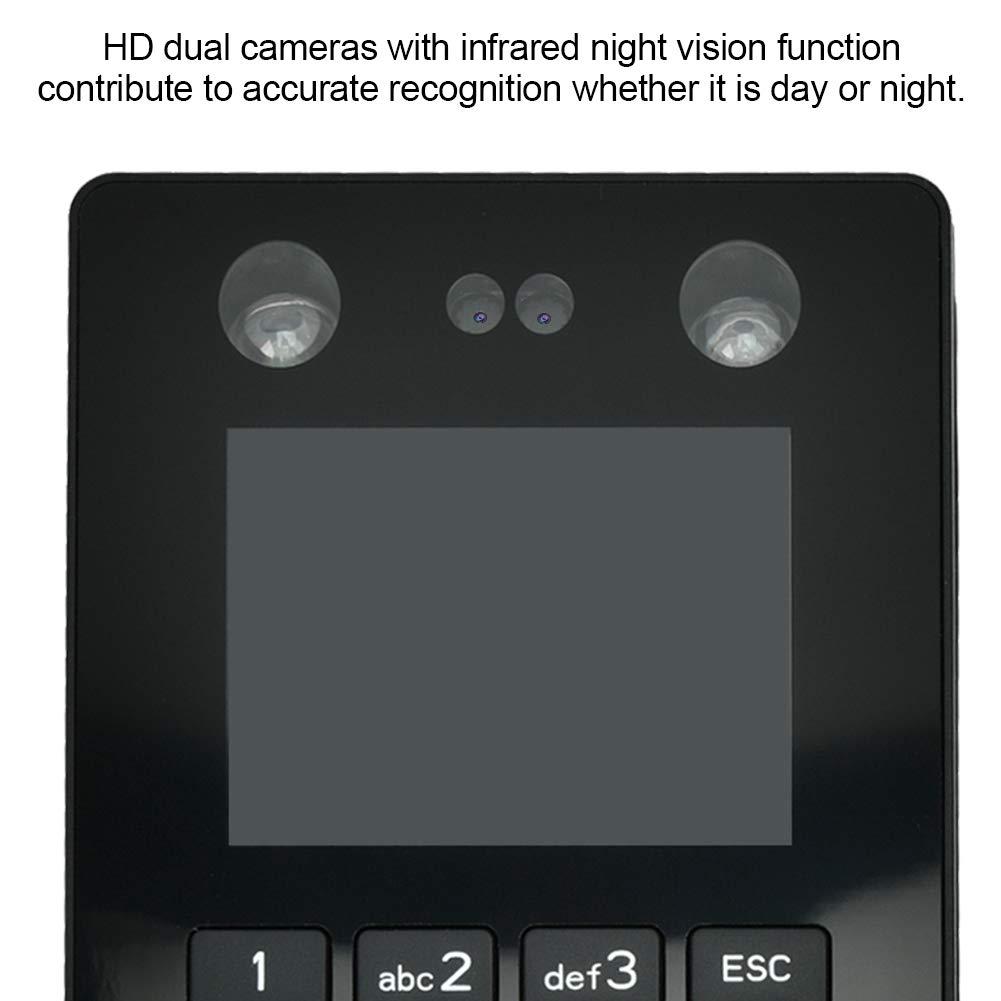 ID 2.8in TFT Gesichts Fingerabdruck Zeiterfassungsmaschine Firma Hospita Biometrische Sicherheitsger/äte Angestellt Stempeluhr Maschine f/ür Schule