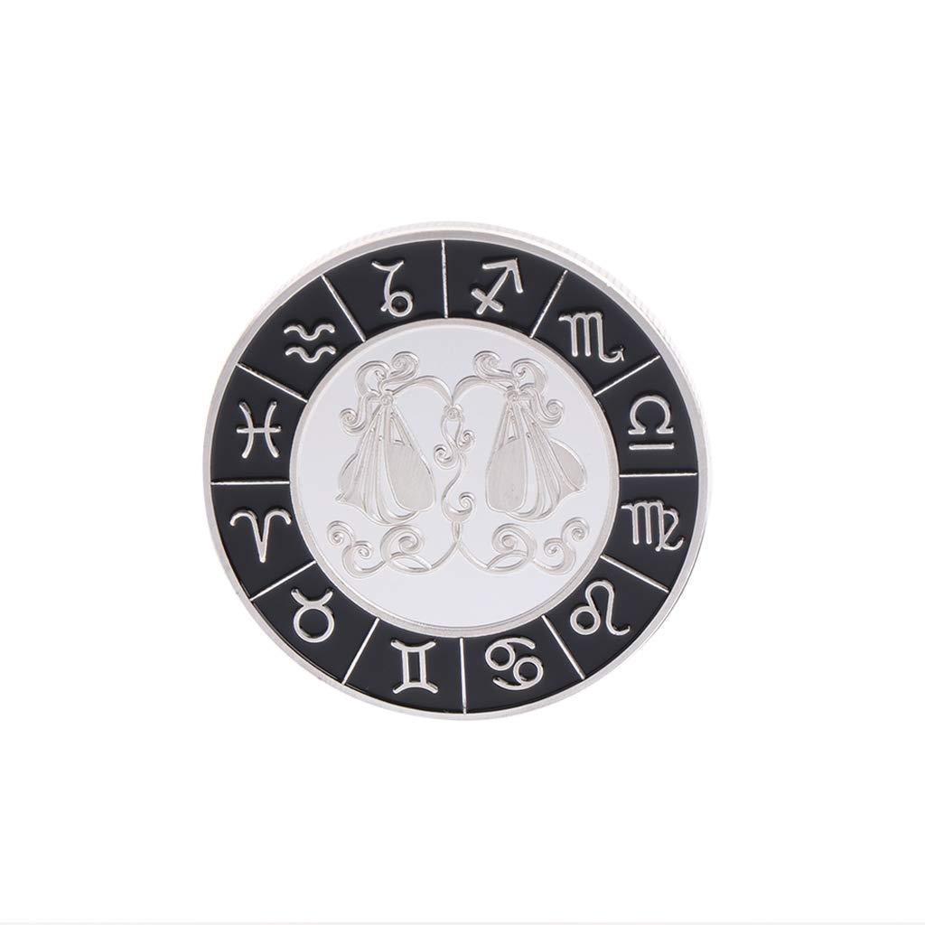 Fugift Moneda Conmemorativa de Plata chapada Libra para la colecci/ón de Arte de Recuerdo