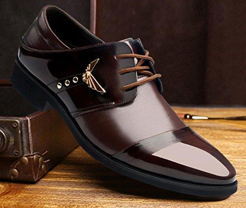 41 Cuero Para Transpirables Negocios Zapatos De Hombre Mlsopx Brown Vestir xEzqWBA