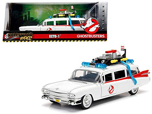 StarSun Depot 1959 Cadillac Ambulance Ecto-1 from Ghostbusters Movie Hollywood Rides Series 1/24 Diecast Model Car Jada ()
