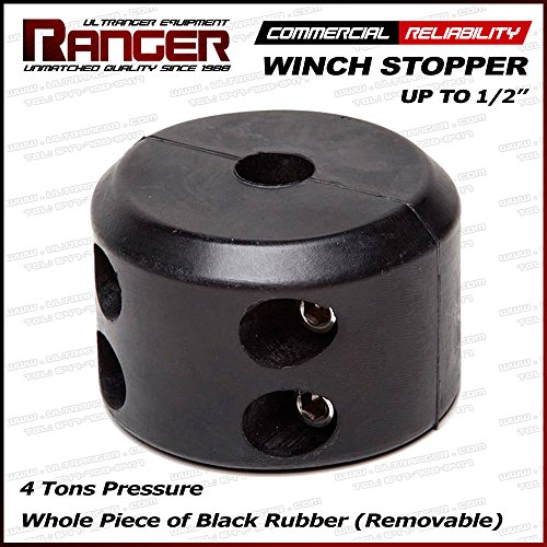 Buy Discount Ranger Removable Winch Stopper Line Saver for Up to 1/2 Synthetic or Wire Rope for Win...