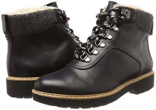 Rock Leather Clarks Donna Nero Witcombe Stivali black R8q8SY5