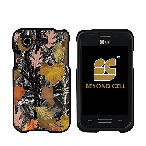 Real Tree Deer Buck Camouflage Snap-On Protector Cover Case + Atom LED Keychain Light for LG Optimus Fuel / L34C
