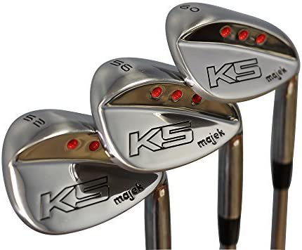 Majek Golf Senior Men s Complete Wedge Set 52 Gap Wedge GW , 56 Sand Wedge SW , 60 Lob Wedge LW Right Handed Senior Flex Steel Shaft