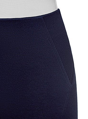 Ultra Bleu Femme oodji Crayon 7900n en Maille Jupe p4TqR