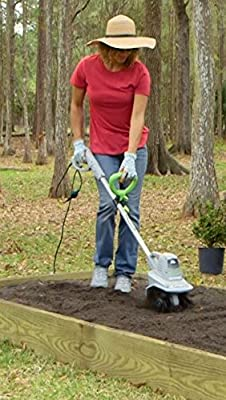 Earthwise 7.5 Inch TC70025 7.5-Inch 2.5-Amp Corded Electric Tiller/Cultivator, Grey
