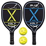 Franklin Sports 2 Player Pickleball-X Set - Includes 2 USAPA Approved Wooden Paddles and 2 Pickleballs