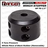 """Ranger Removable Winch Stopper Line Saver for Up to 1/2"""" Synthetic or Wire Rope for Winch by Ultranger"""
