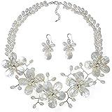 AeraVida White Floral Cultured Freshwater Pearl...